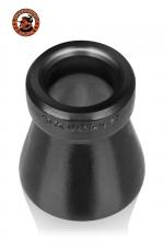 Cone of Shame Chastity Device : Le cône de la honte... A la fois un cockring et un accessoire de chasteté original, 100% silicone platinum, par Oxballs.