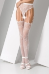 Collants ouverts S016 - Blanc