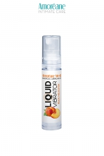 Lubrifiant Liquid Vibrator Pêche 10ml - Amoreane Med : Gel lubrifiant médical à base d'eau avec effet vibrant, parfumé à la  pêche, par Amoréane Med, flacon voyage de 10 ml.