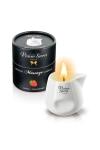 Bougie de massage - Fraise - Bougie érotique se transformant en huile de massage sensuelle au goût gourmand de fraise.