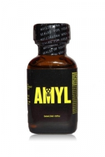 Poppers Amyl 24 ml : Poppers au véritable nitrite d'Amyle en flacon de 24 ml.
